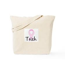 Trish pink ribbon Tote Bag