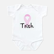 Trish pink ribbon Infant Bodysuit