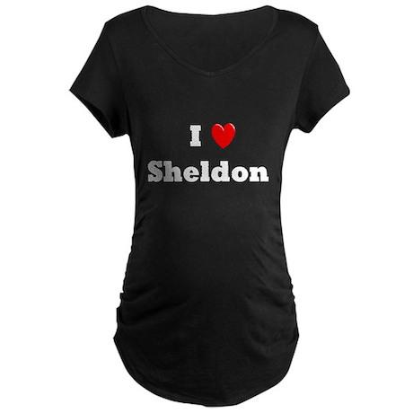 I heart Sheldon Maternity Dark T-Shirt