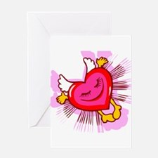 Flying Heart Greeting Card