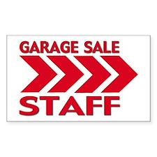 Garage Sale Rectangle Sticker 10 pk)