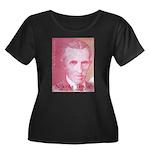 Tesla-2 Women's Plus Size Scoop Neck Dark T-Shirt