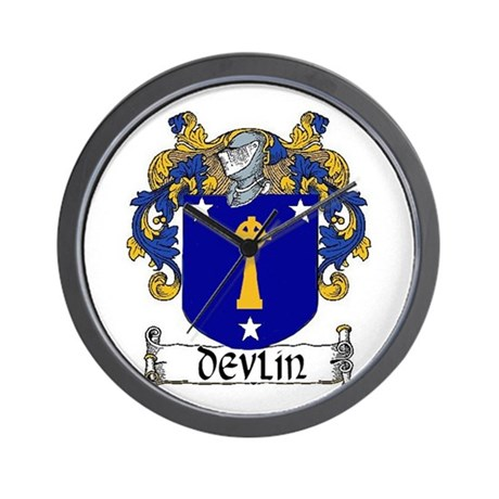 Devlin Coat of Arms Wall Clock