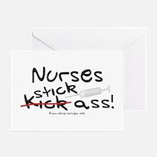 Nurses Stick Ass Greeting Cards (Pk of 10)