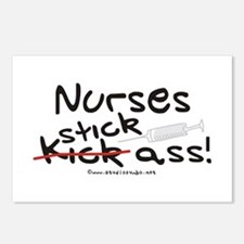 Nurses Stick Ass Postcards (Package of 8)