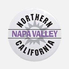 Napa Valley California Ornament (Round)