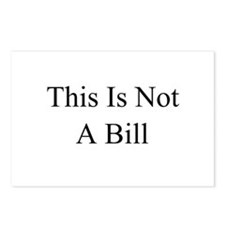 This Is Not A Bill Postcards (Package of 8)
