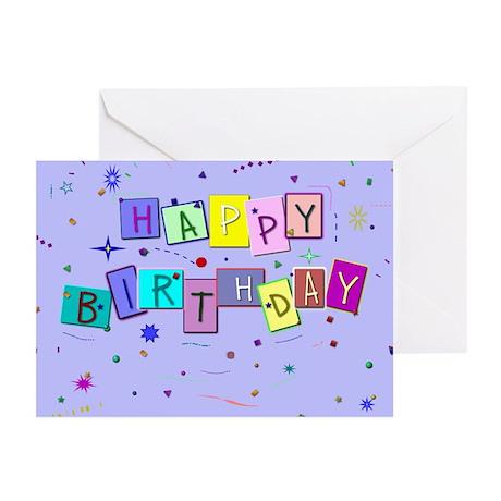 Birthday Confetti Greeting Cards (Pk of 10)