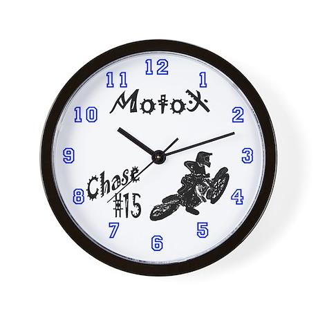 Chase's Motocross Wall Clock