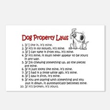 Dog Property Laws Postcards (Package of 8)
