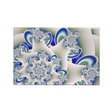 """Frosted Blue"" Fractal Art Rectangle Magnet"