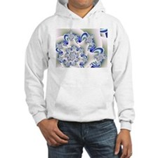 """Frosted Blue"" Fractal Art Hoodie"