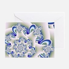 Frosted Blue Fractal Art Greeting Card