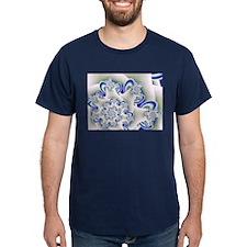 """Frosted Blue"" Fractal Art T-Shirt"