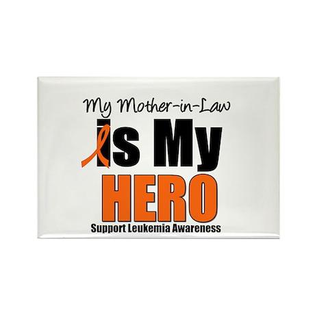 Leukemia Hero (MIL) Rectangle Magnet (10 pack)