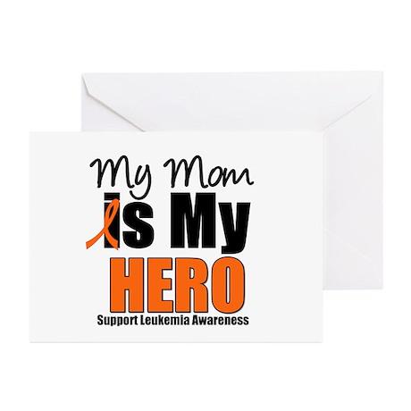 Leukemia Hero (Mom) Greeting Cards (Pk of 10)