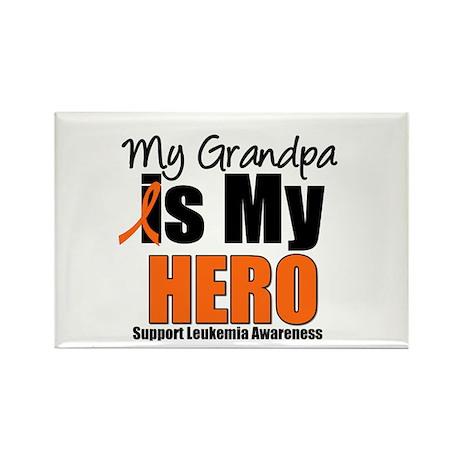 Leukemia Hero (Grandpa) Rectangle Magnet (10 pack)