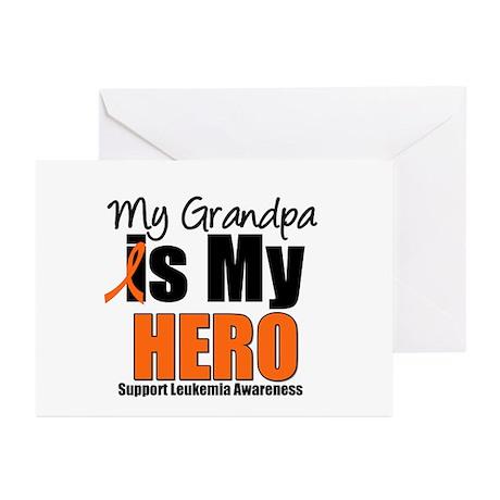 Leukemia Hero (Grandpa) Greeting Cards (Pk of 10)