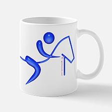 Equestrian Horse Blue Mug