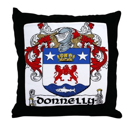 Donnelly Coat of Arms Throw Pillow