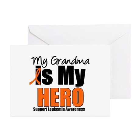 Leukemia Hero (Grandma) Greeting Cards (Pk of 10)