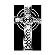 Celtic Cross Rectangle Decal