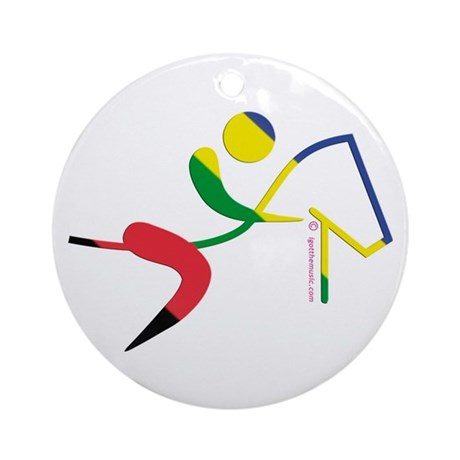Equestrian Horse Olympic Ornament (Round)