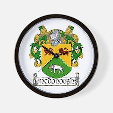 McDonough Coat of Arms Wall Clock