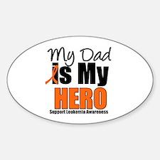 Leukemia Hero (Dad) Oval Sticker (10 pk)
