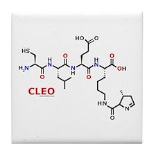 Cleo name molecule Tile Coaster