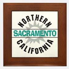 Sacramento California Framed Tile
