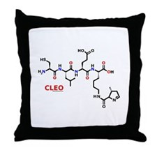 Cleo name molecule Throw Pillow