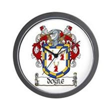 Doyle Coat of Arms Wall Clock