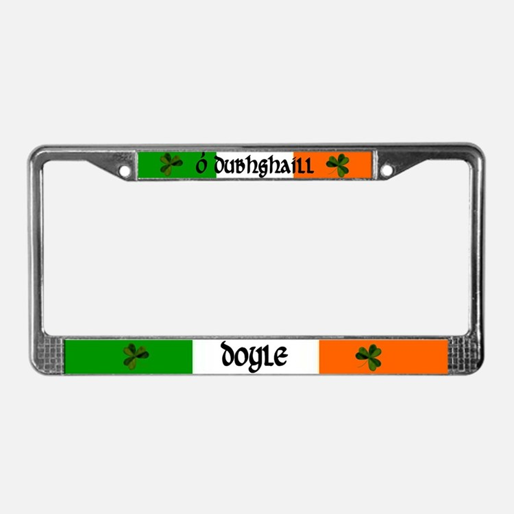 Doyle in Irish & English License Plate Frame