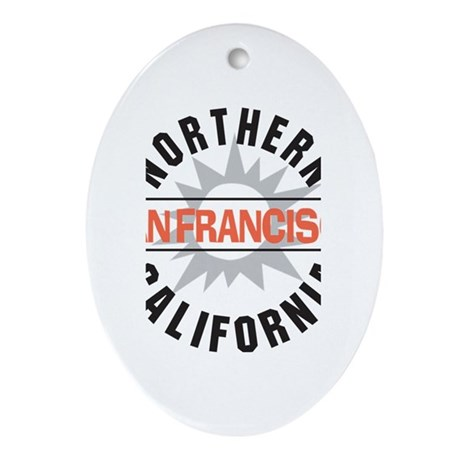 San Francisco California Oval Ornament