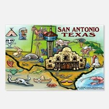 San antonio Postcards (Package of 8)