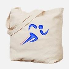 Running Blue Tote Bag
