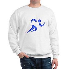 Running Blue Jumper