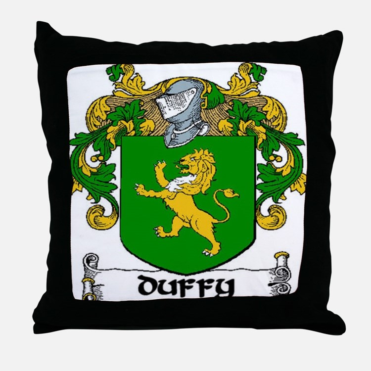 Duffy Coat of Arms Throw Pillow