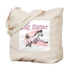 Horse Big Sister Tote Bag