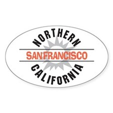 San Francisco California Oval Decal