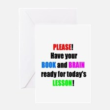 Have your BOOK and BRAIN read Greeting Card