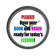 Have your BOOK and BRAIN read Wall Clock