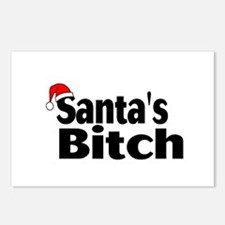 Santa's Bitch Postcards (Package of 8)