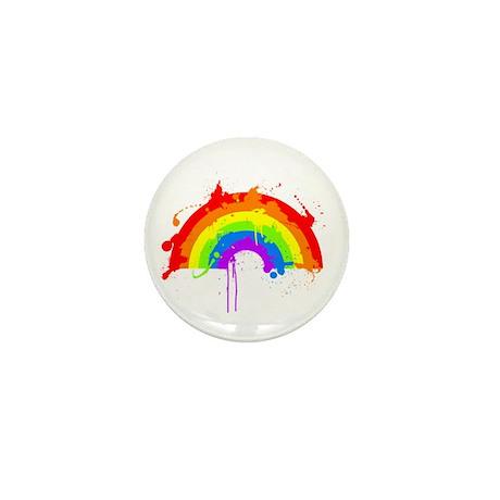 Rainbow Splatter'D Mini Button