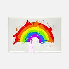Rainbow Splatter'D Rectangle Magnet