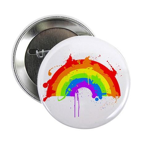 """Rainbow Splatter'D 2.25"""" Button (10 pack)"""