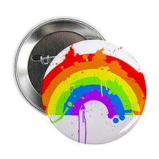"""Rainbow Splatter'D 2.25"""" Button"""