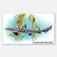 Leopard Shark Rectangle Decal