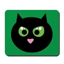 Angry Black Cat Mousepad